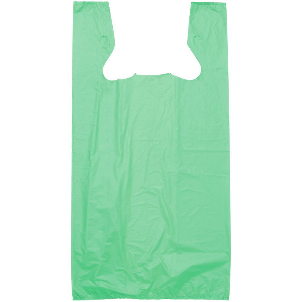 BAG, T-SHIRT, HDPE, .55 MIL, GREEN