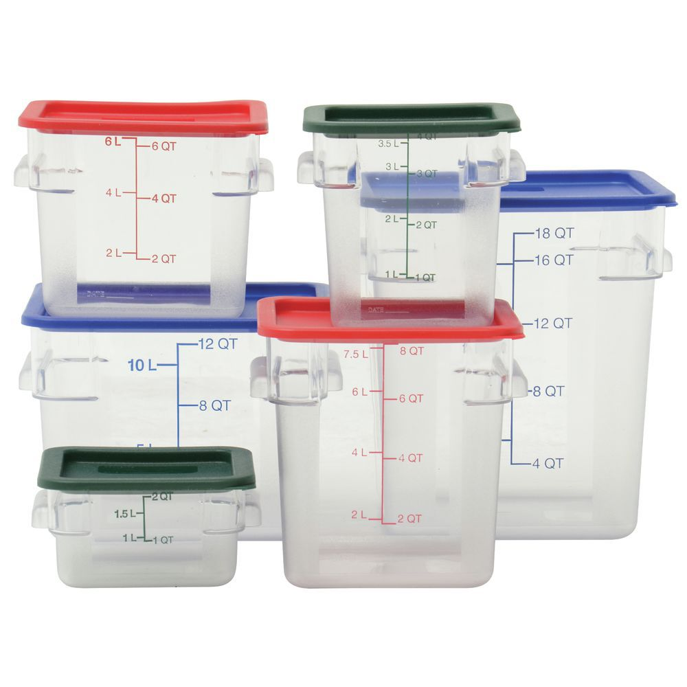 Hubert® Small Plastic Food Container Square 2 qt  clear