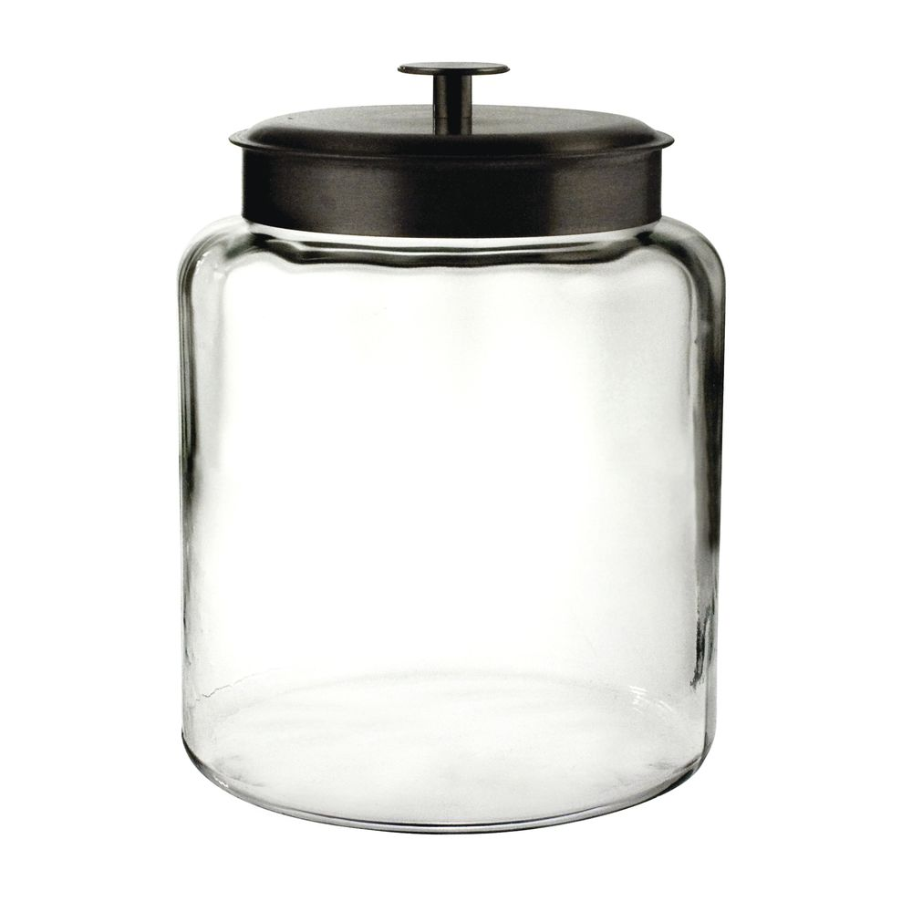 JAR, 2GAL, BLK LID, GLASS, MONTANA