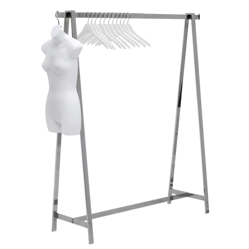 "BALLET BAR, A-FRAME, POLISHED CHROME, 65""H"