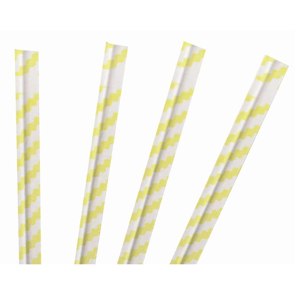 Yellow Stripe Twisty Ties