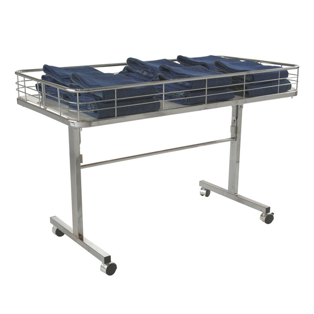 Store Display Tables with Heavy-Duty Casters