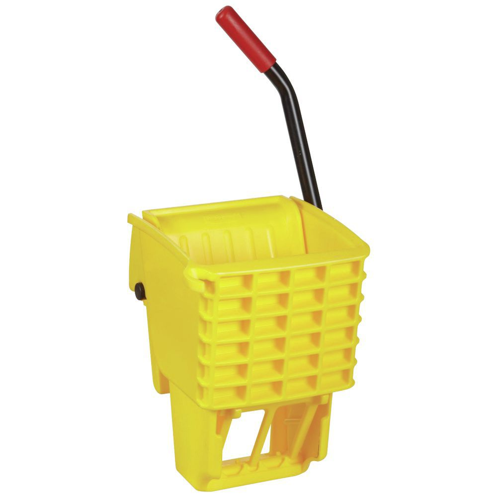 Maintenance Mop Bucket with Wringer cuts movement of water in bucket to reduce splashing.