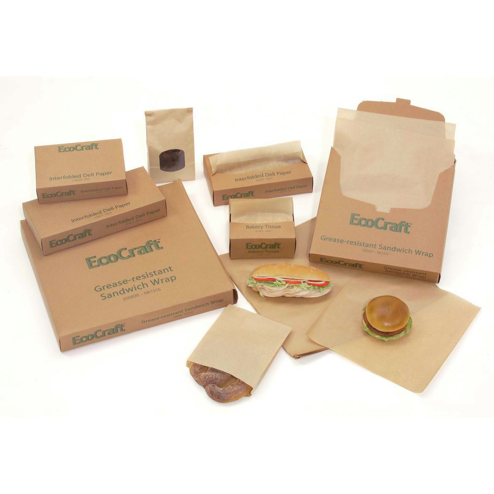 Sandwich wrap natural kraft paper 12 l x 12 w for Eco boxes