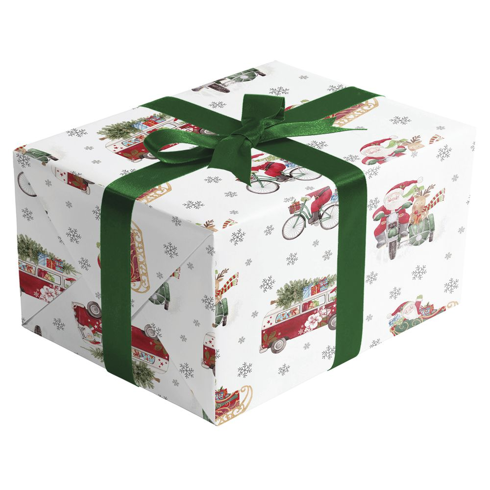 "GIFT WRAP, OUT FOR DELIVERY, 1/4 ROLL, 30""W"