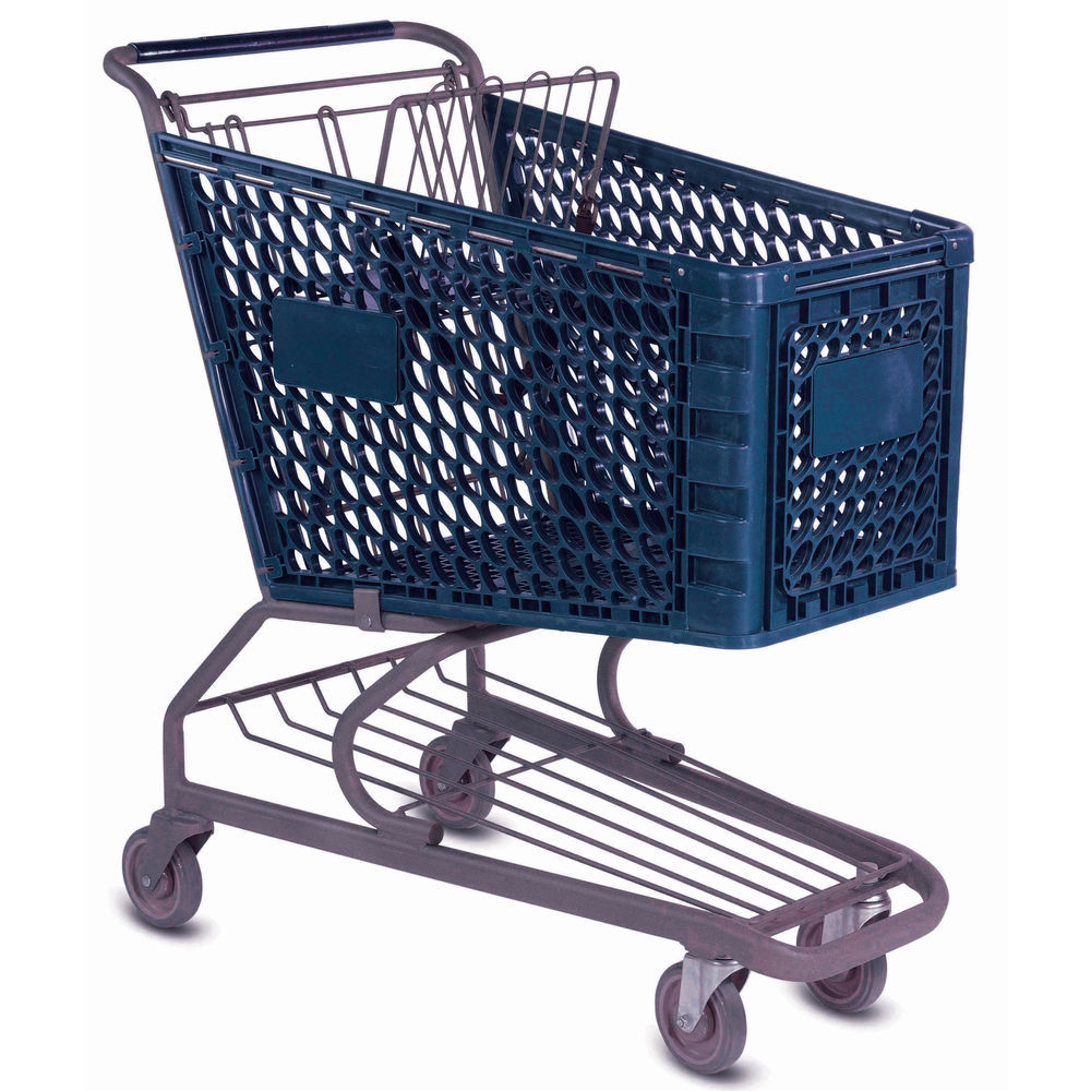 "Plastic Cart with 5"" Casters"