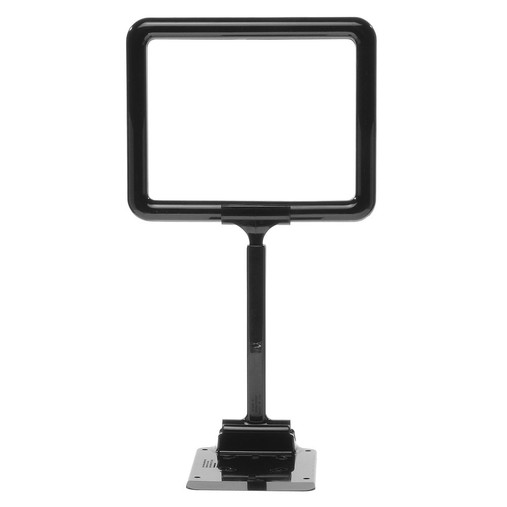 "7 x 5 1/2 Adjustable Sign Holder, Black, Stem 8""-12"""