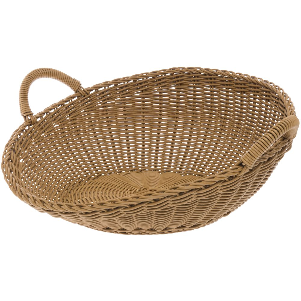 BASKET, WICKER, LG SLOPED, DARK BEIGE, WASHA
