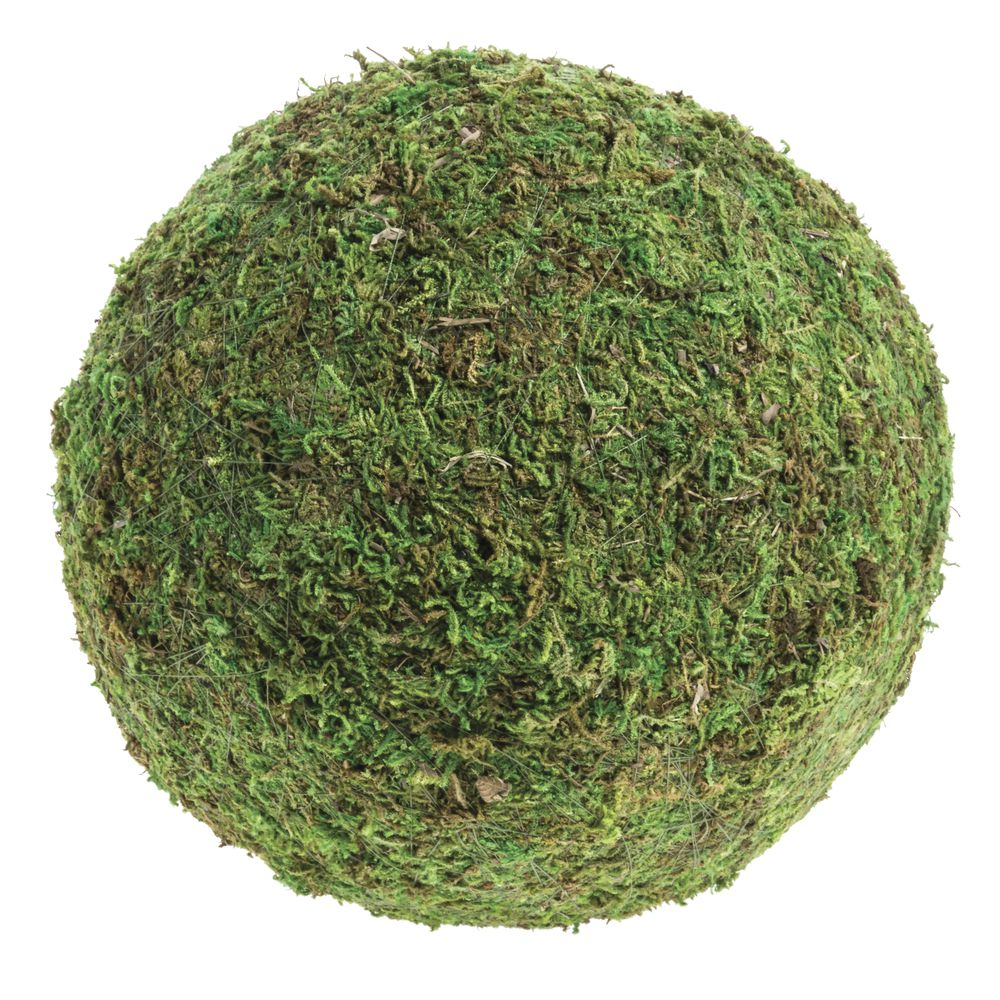 "BALL, MOSS, GREEN, 8""DIA"