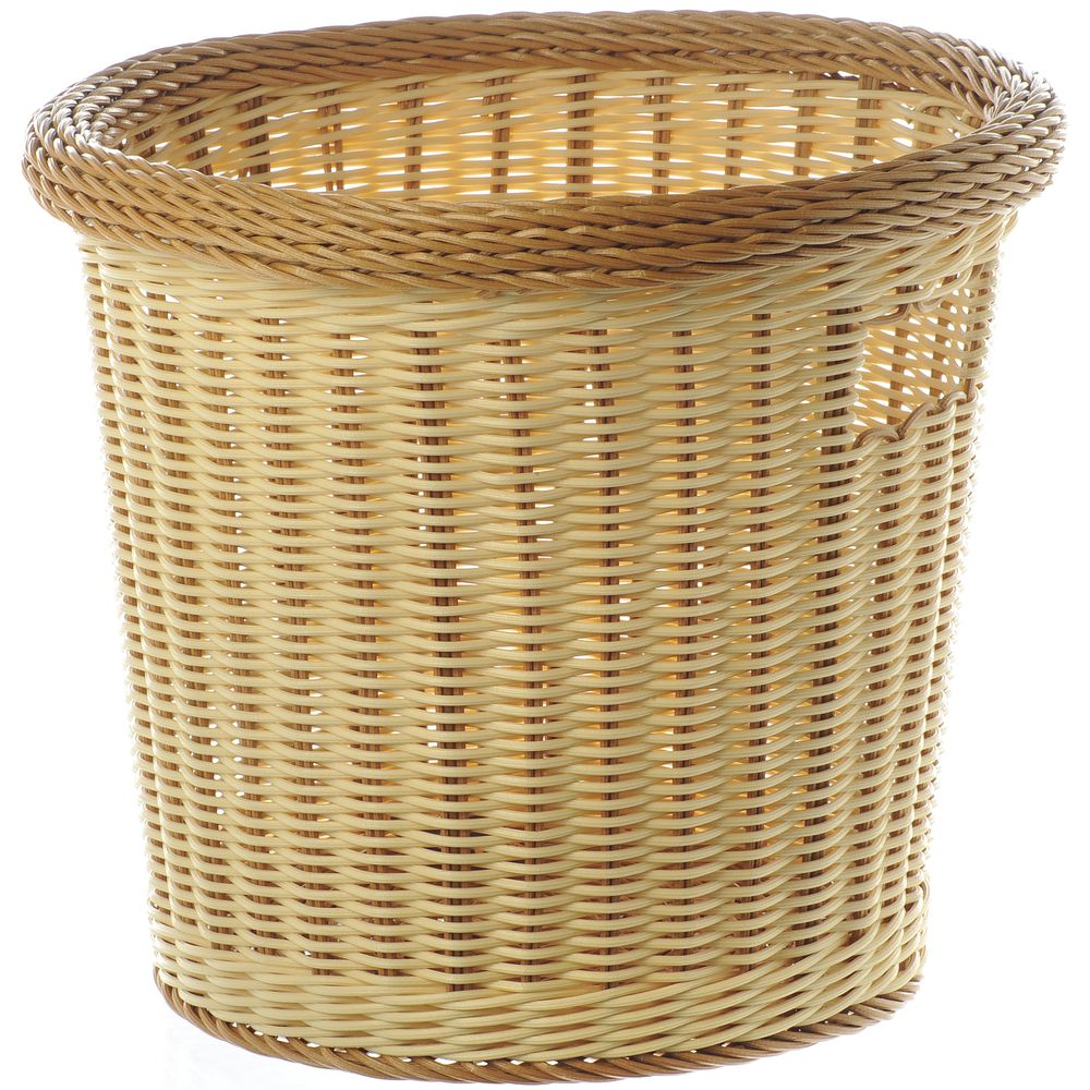 Handled Small Round Basket with Tu-Toned Colors