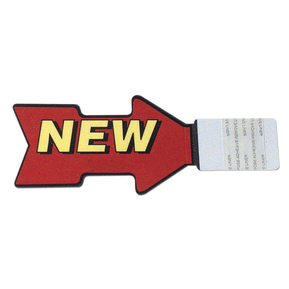 "Stick-On Shelf Tags 2 Sided New 2""H x 4.5""L"