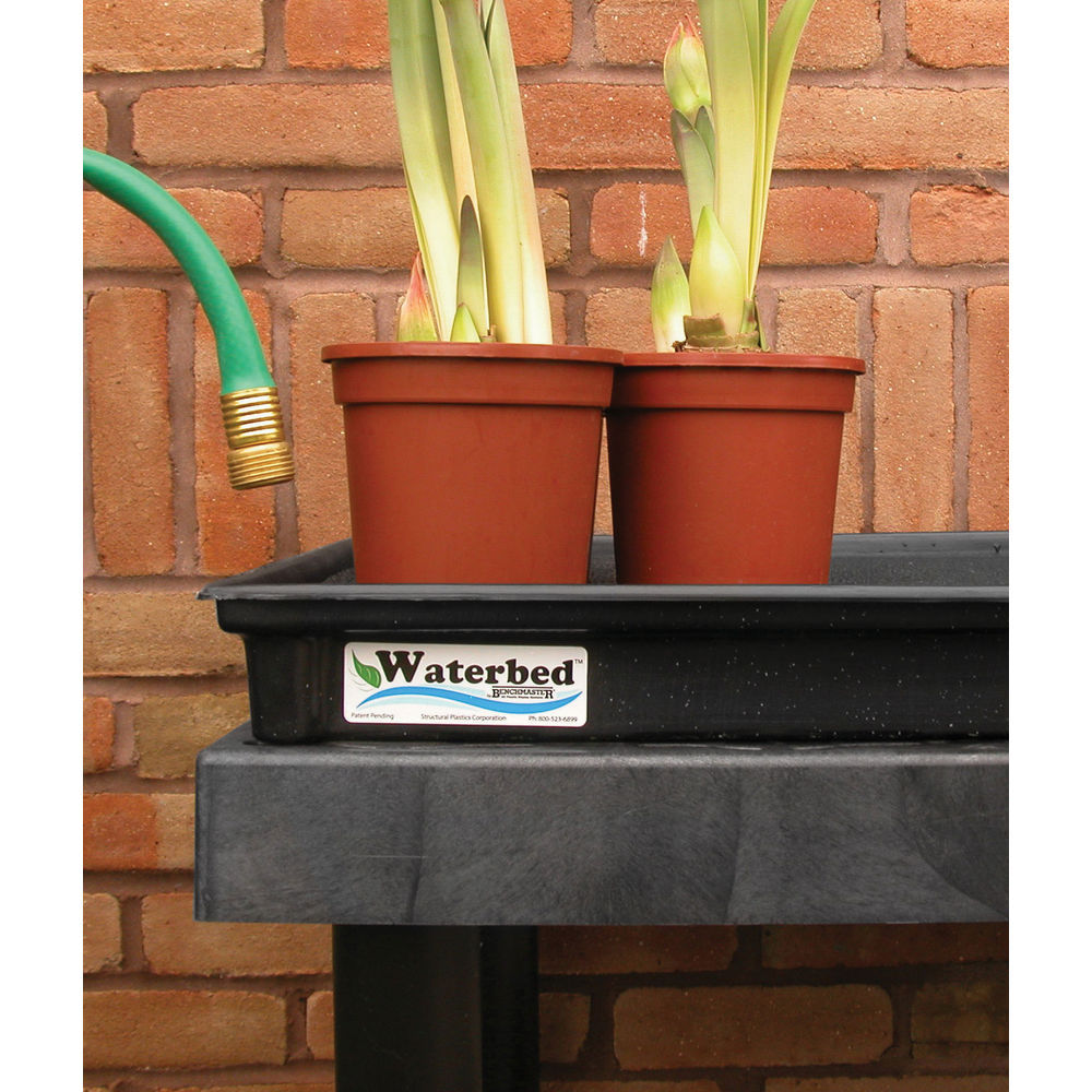 Outdoor Flower Stand with Self-Watering Trays