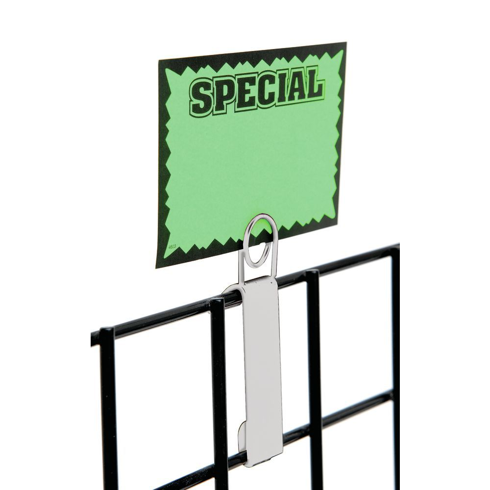 White Grid Wall Sign Holder