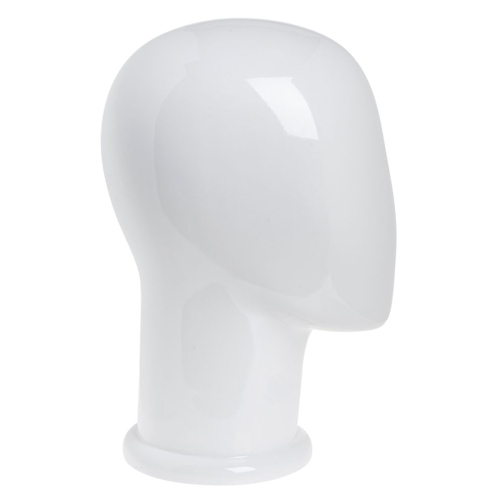 """HEAD, MALE, ABSTRACT, GLOSS WHITE, 12""""H"""