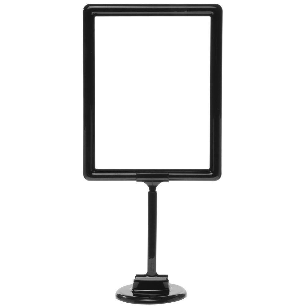 11 x 8 1/2 Adjustable Sign Display, Black, Round Base