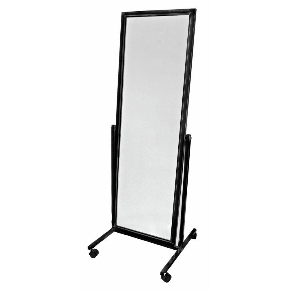 Black Rolling Floor Mirror