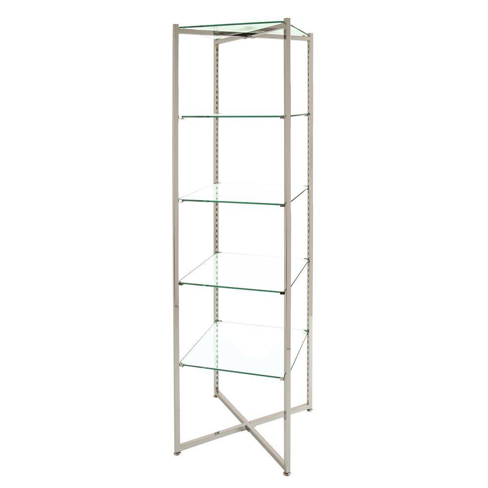 5 Shelf Glass Etagere