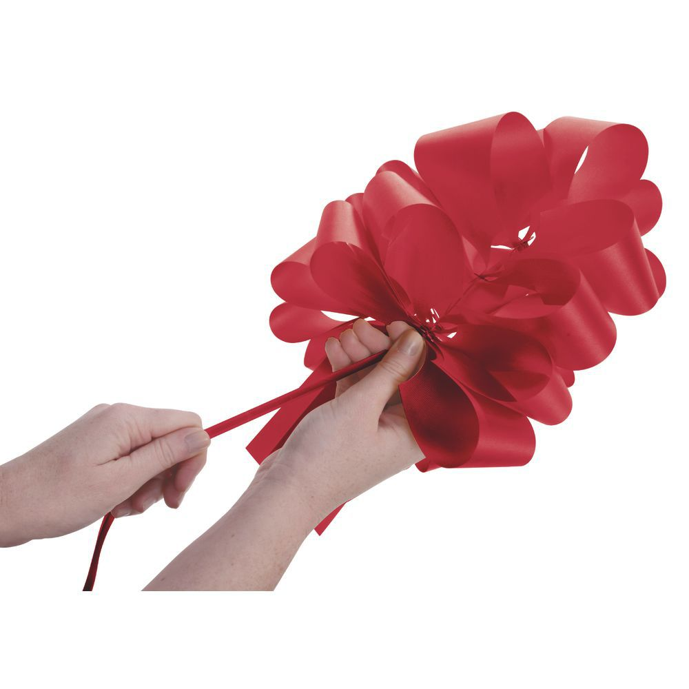 Large Red Pull Bows