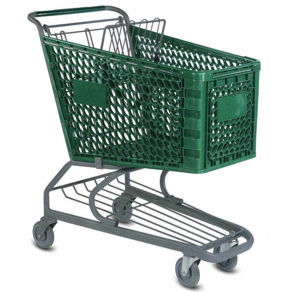 Grocery Shopping Carts with Oval Tubing