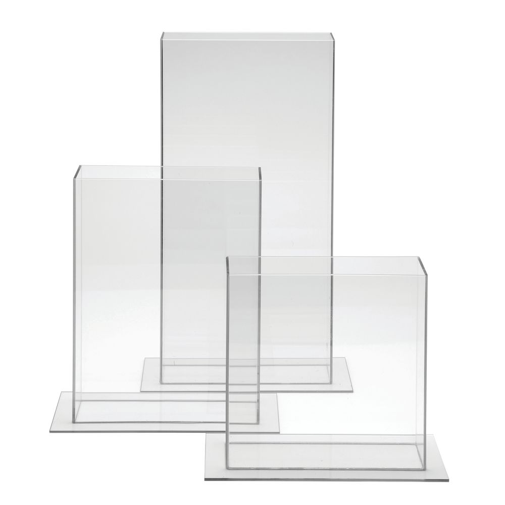 Cal Mil Clear Plastic Vases Rectangular 12 inches.