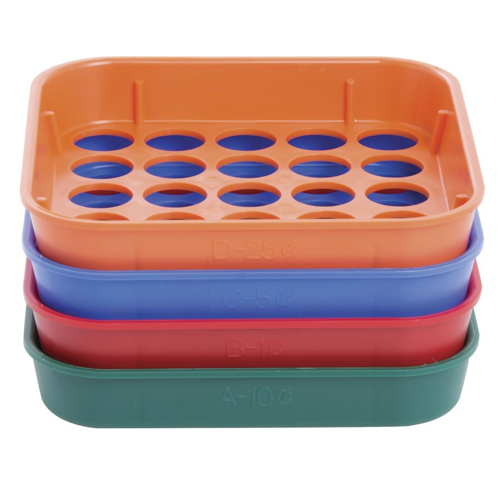 COIN SORTING TRAY SYSTEM, 4 TRAYS