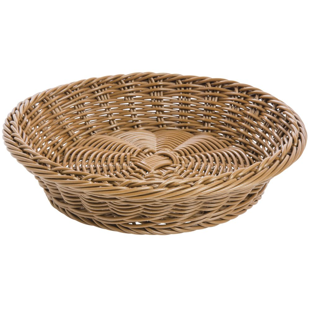 BASKET, ROUND, HONEY, 11-1/2DIAX2-3/4D