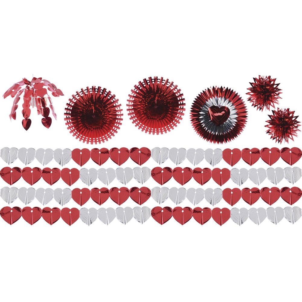 DECOR KIT, VALENTINE'S METALLIC, 1500 SQFT