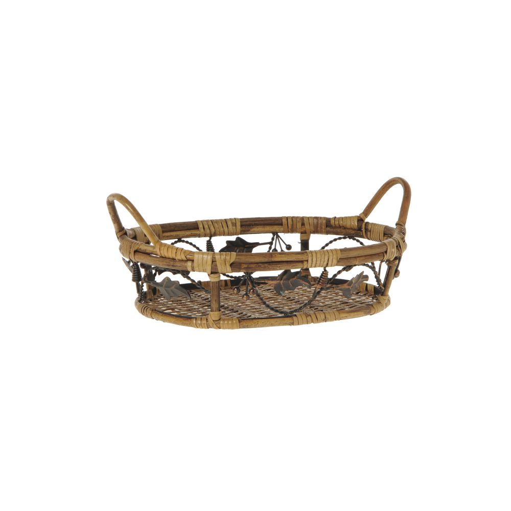 Decorative Bamboo Basket Features Attractive Design