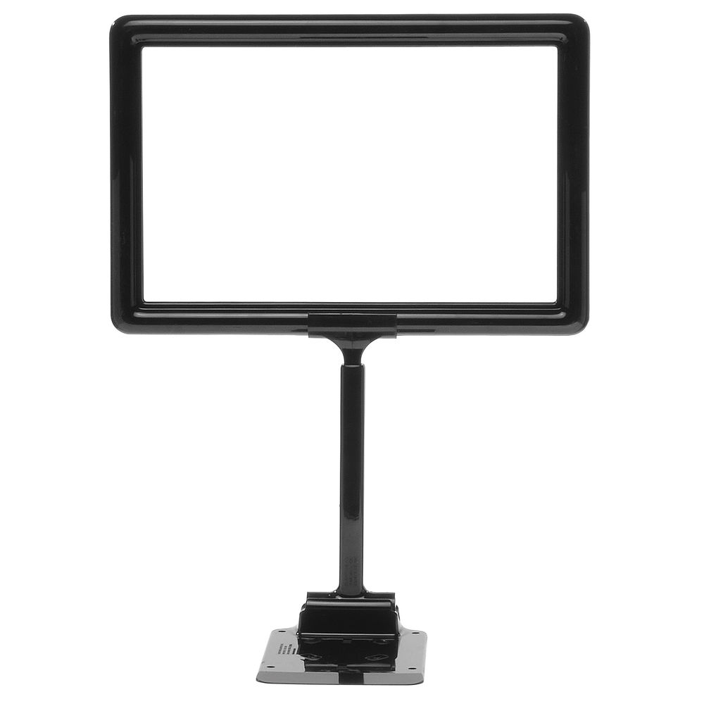 "11 x 7 Adjustable Sign Holder, Black, Stem 8""-12"""