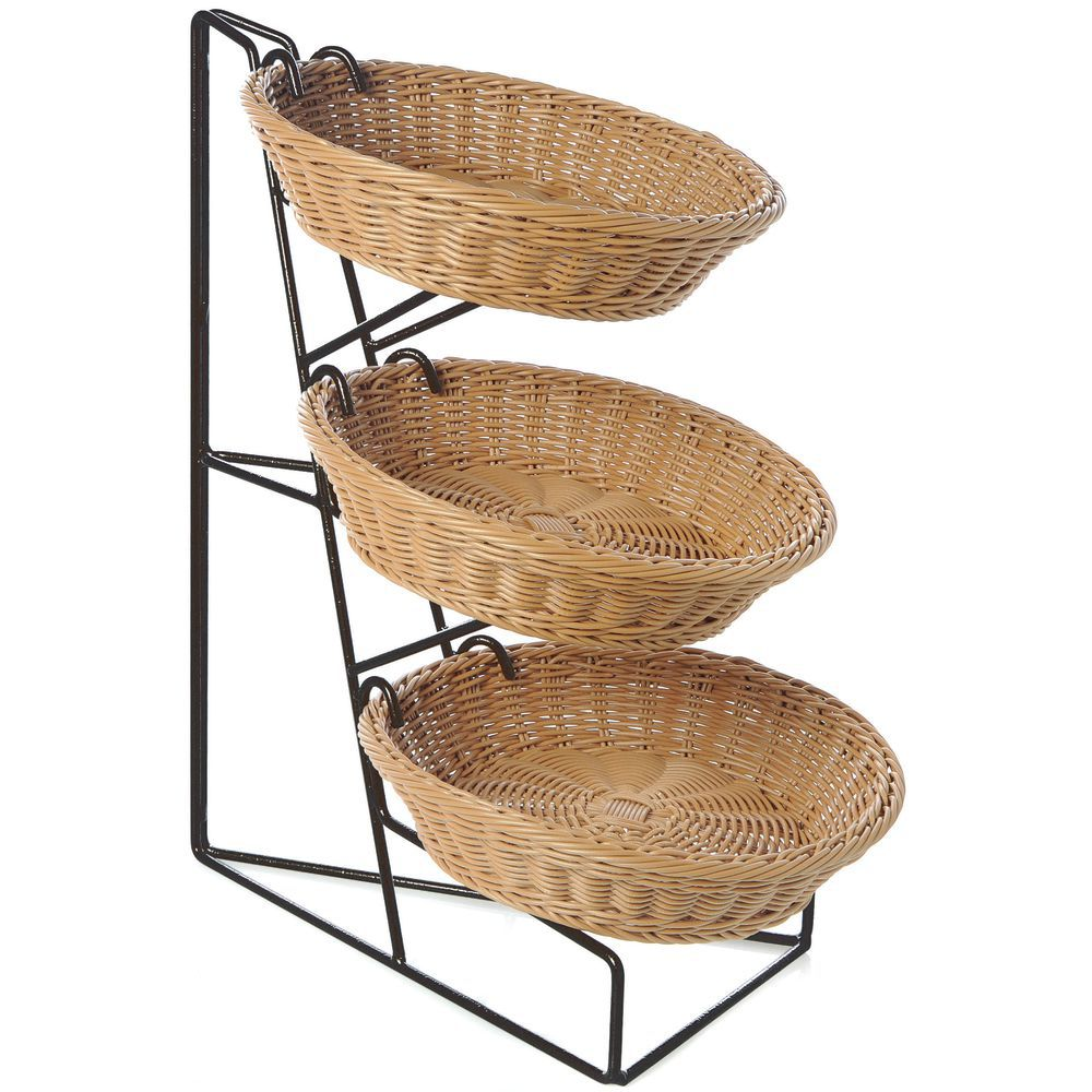 Bakery Display Cases 3-Tier Black Wire