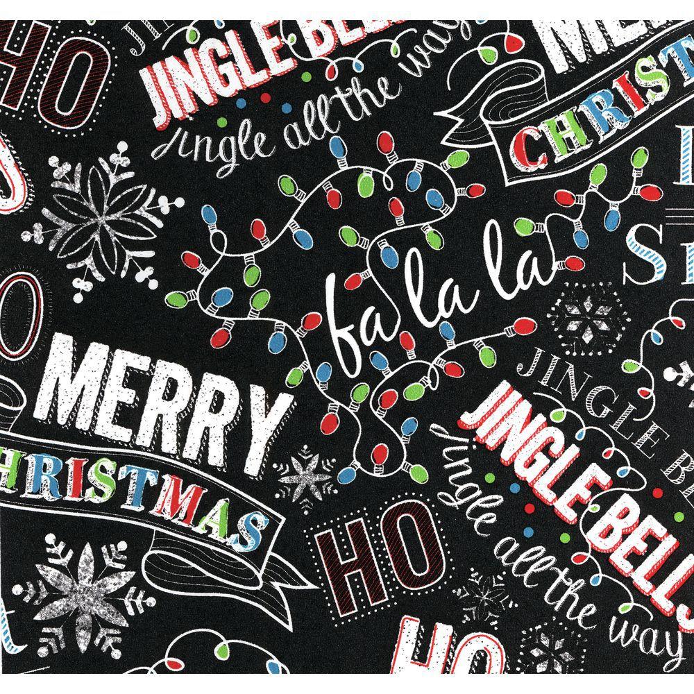 Christmas Chalk Holiday Paper, Half Roll Christmas Chalk Holiday Paper, Half Roll