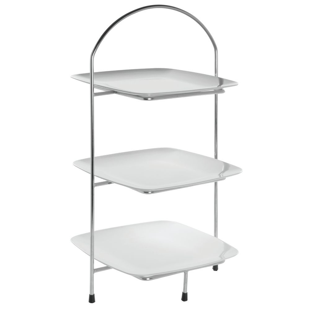 STAND, 3-TIER, SQUARE, S/S