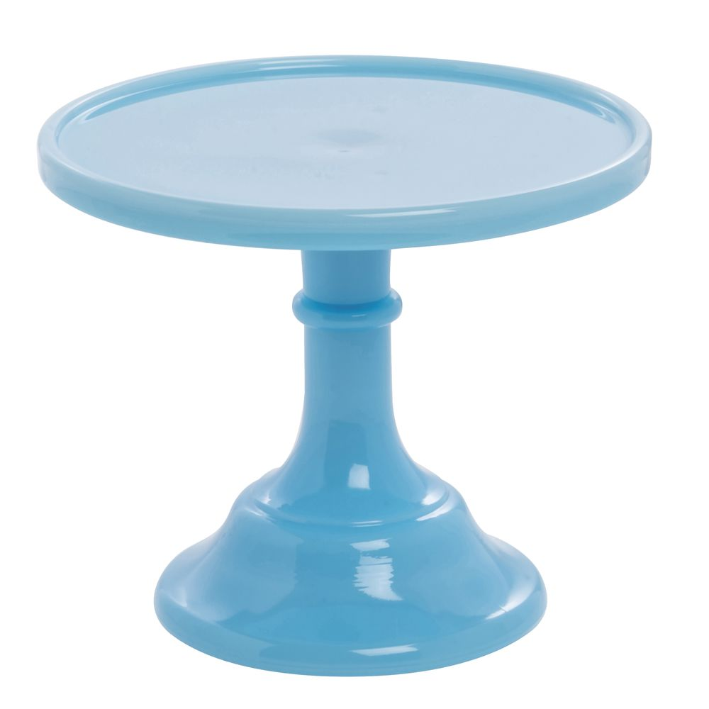 CAKE STAND, GLASS, 6DIAX5.5, ROBIN EGG BLUE