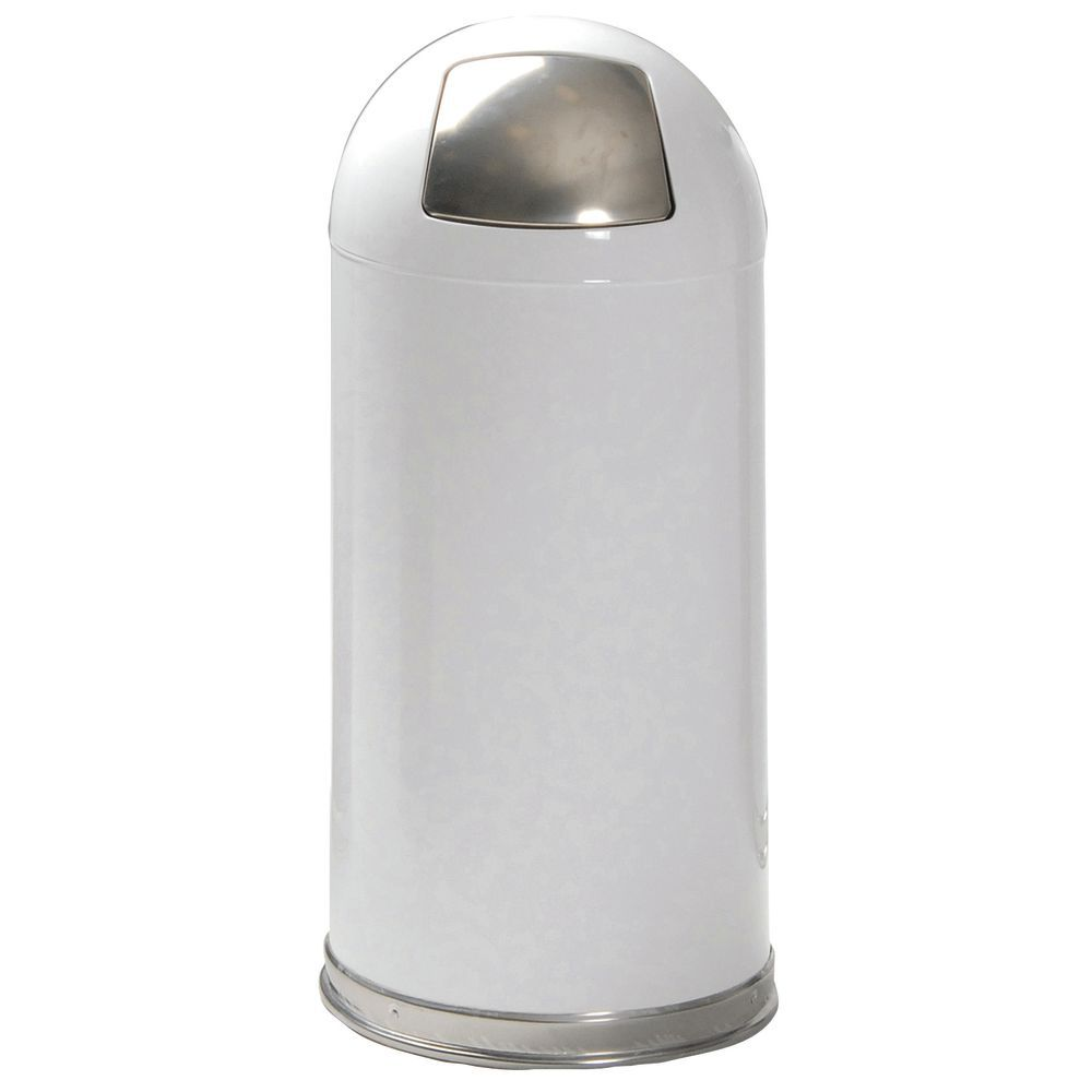 Classic White Trash Can adds Ambience to Any Room