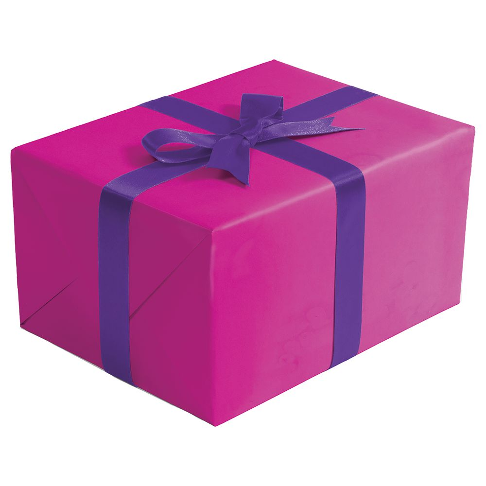 "GIFT WRAP, NEON PINK, MATTE, 1/2 ROLL, 24""W"