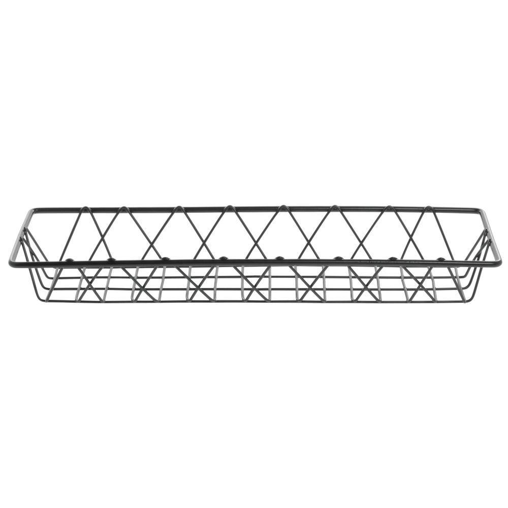 """Hubert Nickel Wire Bread Basket 18""""L x 6""""W x 2""""H  Hubert Nickel Wire Bread Basket 18""""L x 6""""W x 2""""H  Large Nickel Wire Bread Basket Holds a Lot"""
