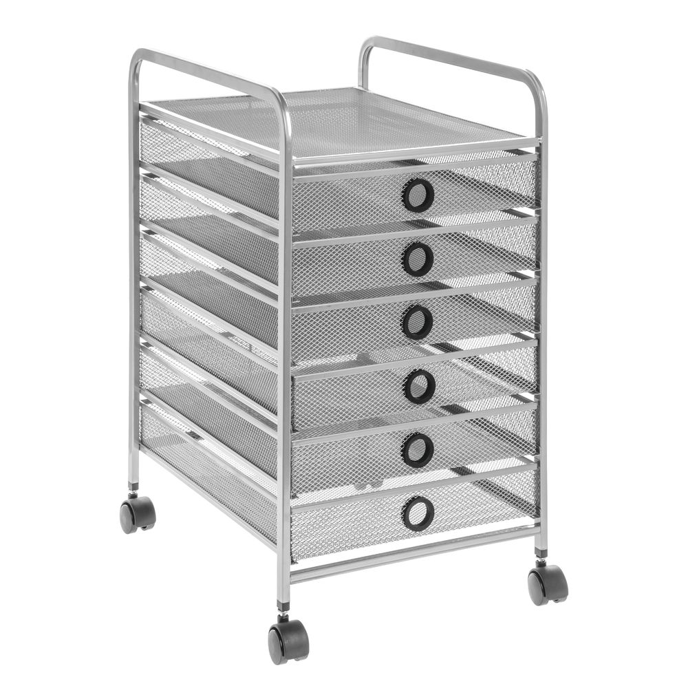 6 Drawer Wire Mesh Cart