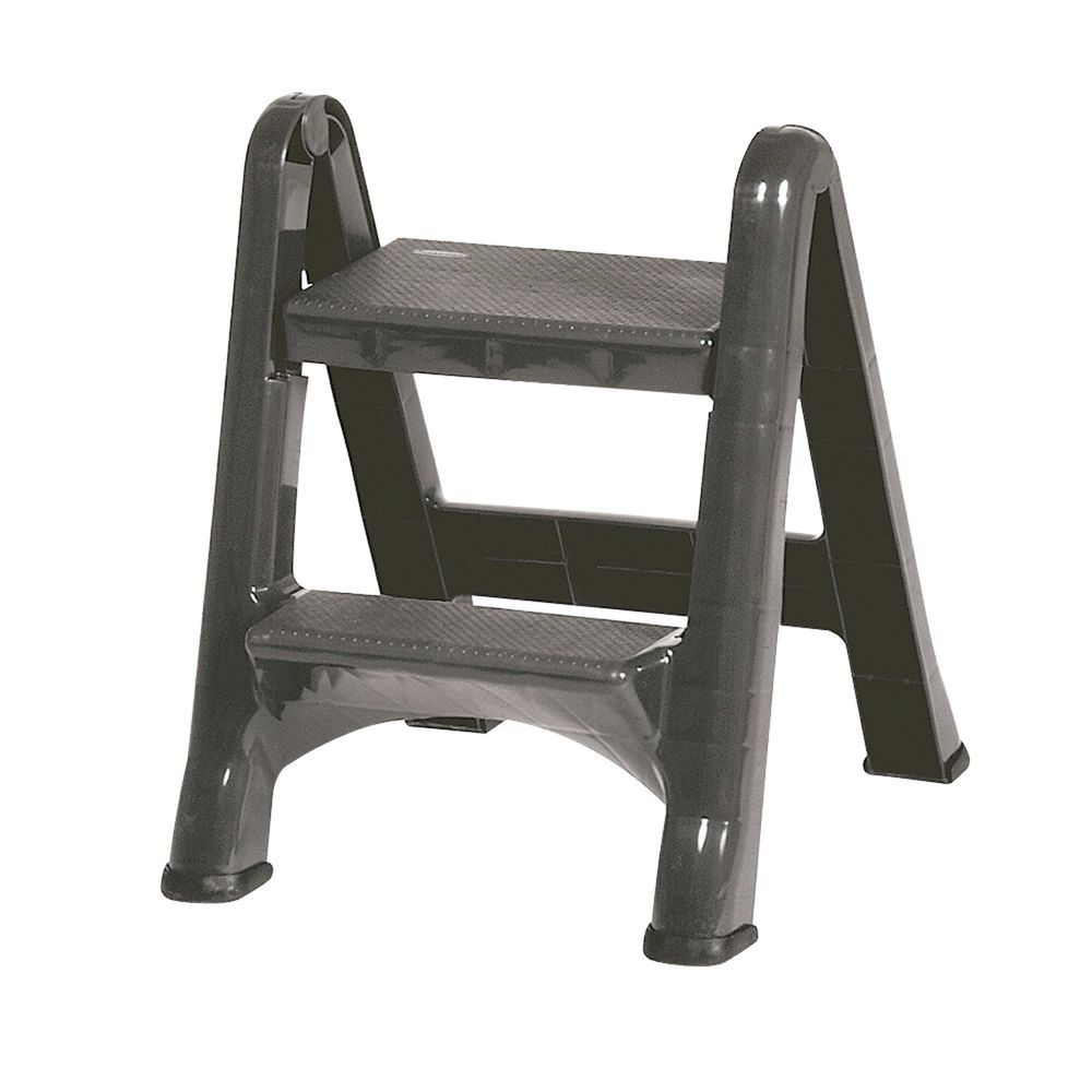 Rubbermaid 174 Step Ladder In Gray Is Foldable
