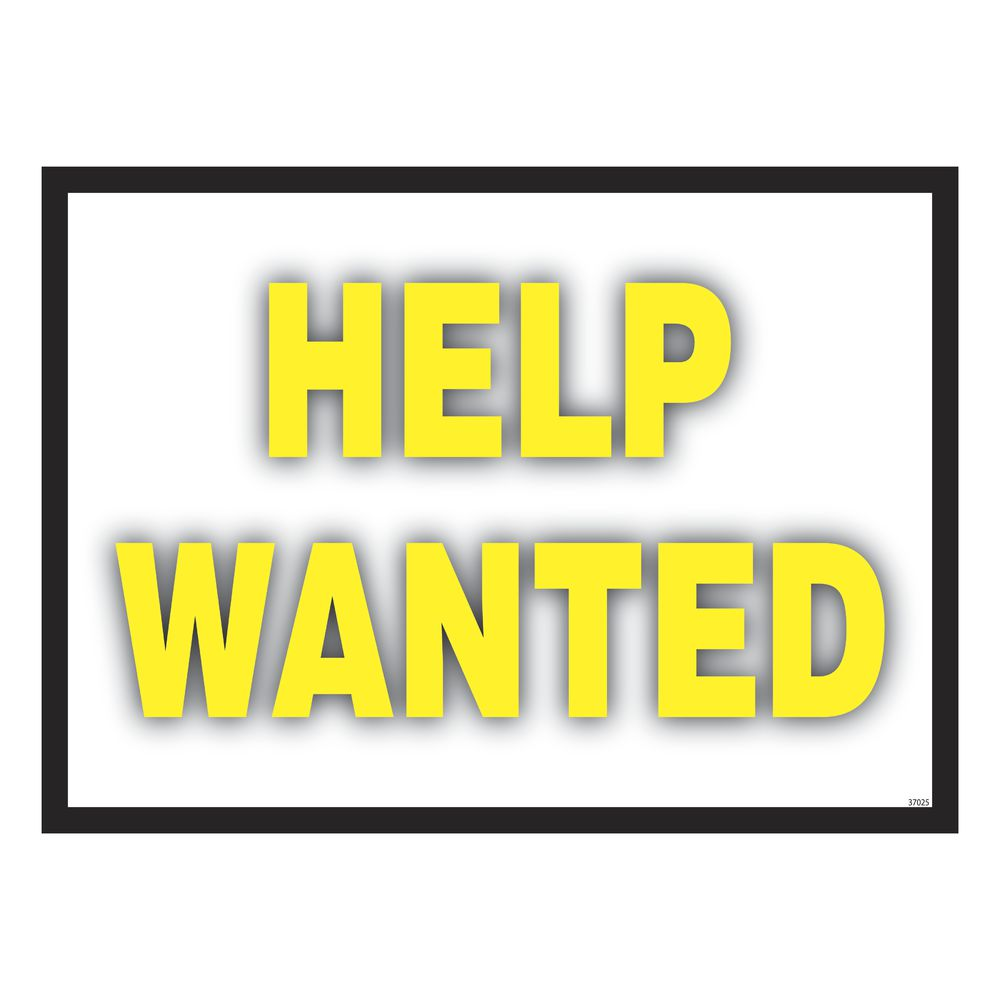 """Colorful """"Help Wanted"""" Sign"""