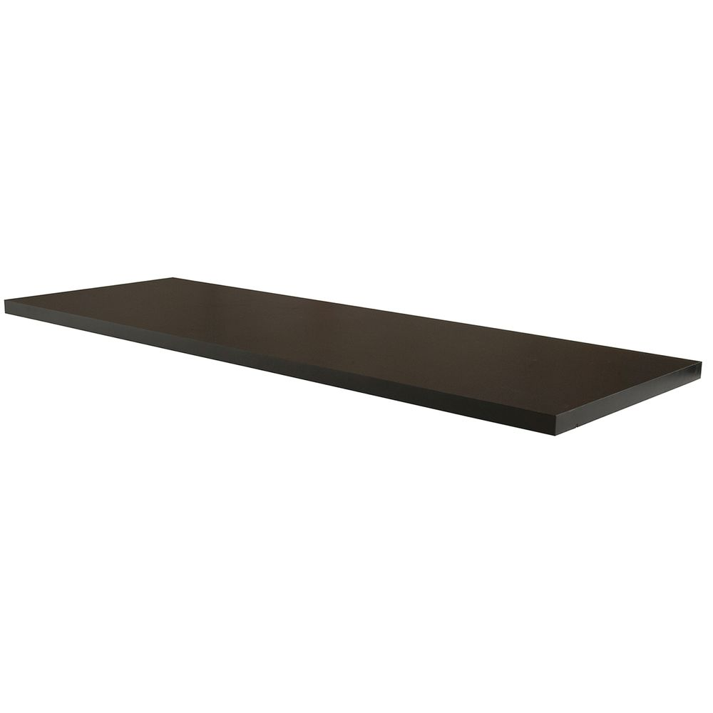 SHELF, PIPELINE, MELAMINE, BLACK, 46.3X15.75