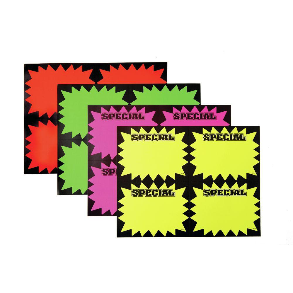 CARDS, LASER, 8.5 X11, SPECIAL, BURST, 100/PK