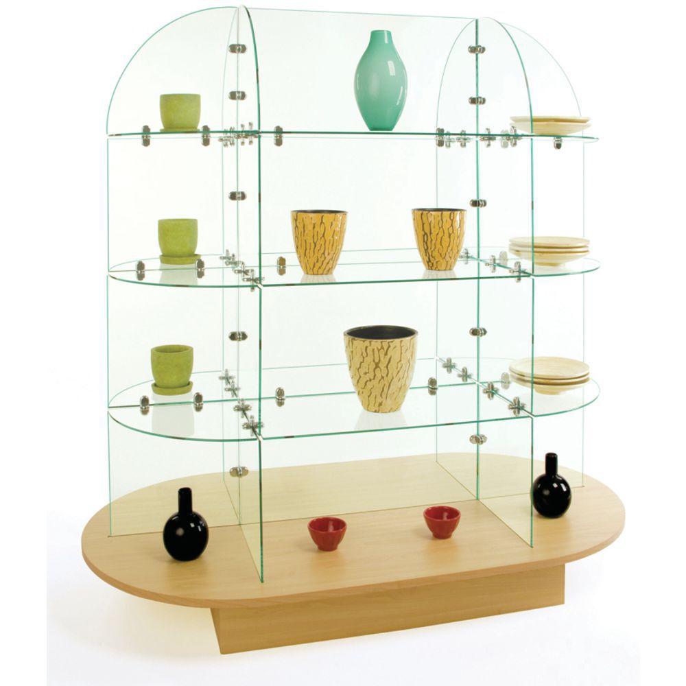 Oval Glass Shelving Unit