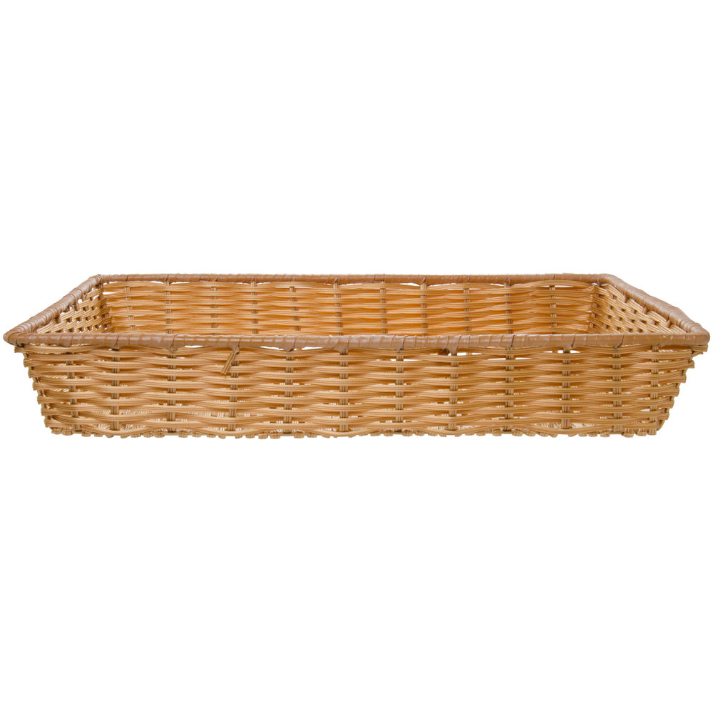 """Tri-Cord Washable Large Wicker Basket in Natural Color 18""""L x 26""""W x 4""""H"""