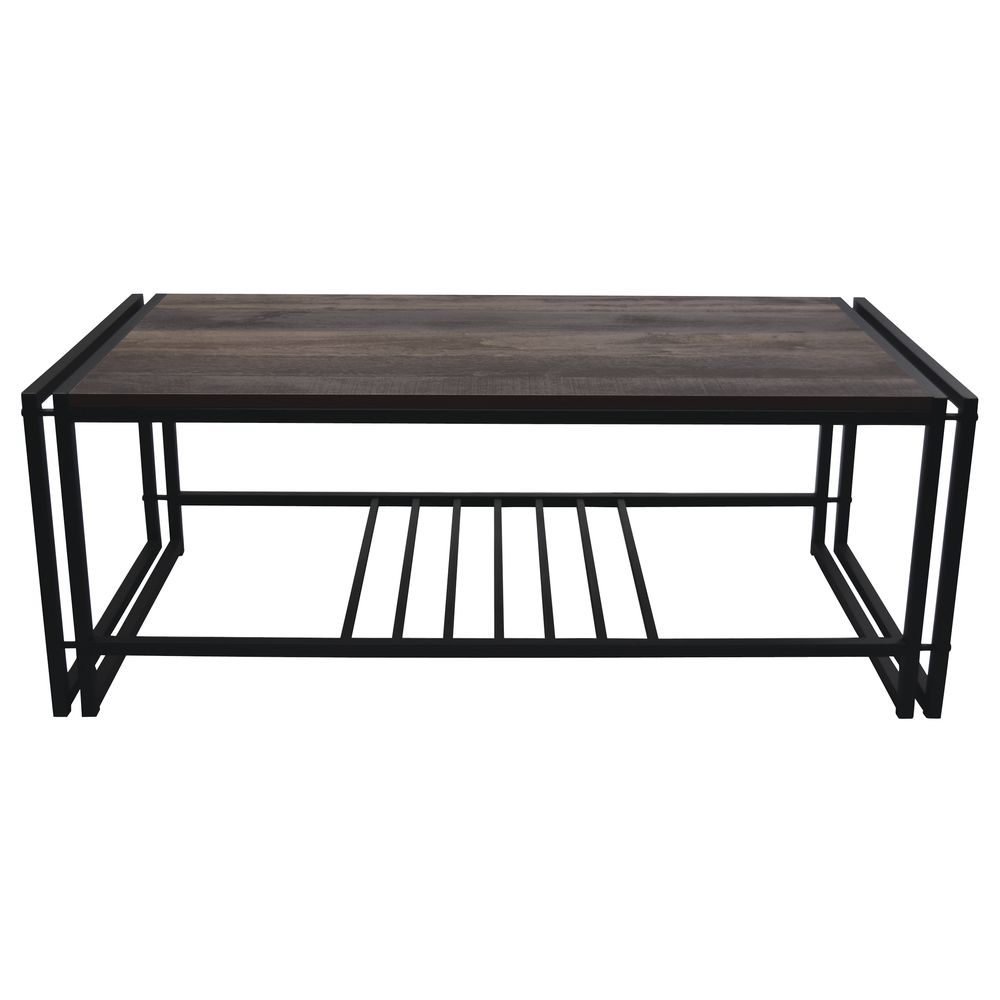 "DISPLAY TABLE, METAL/LAMINATE, BLACK, 48""W"