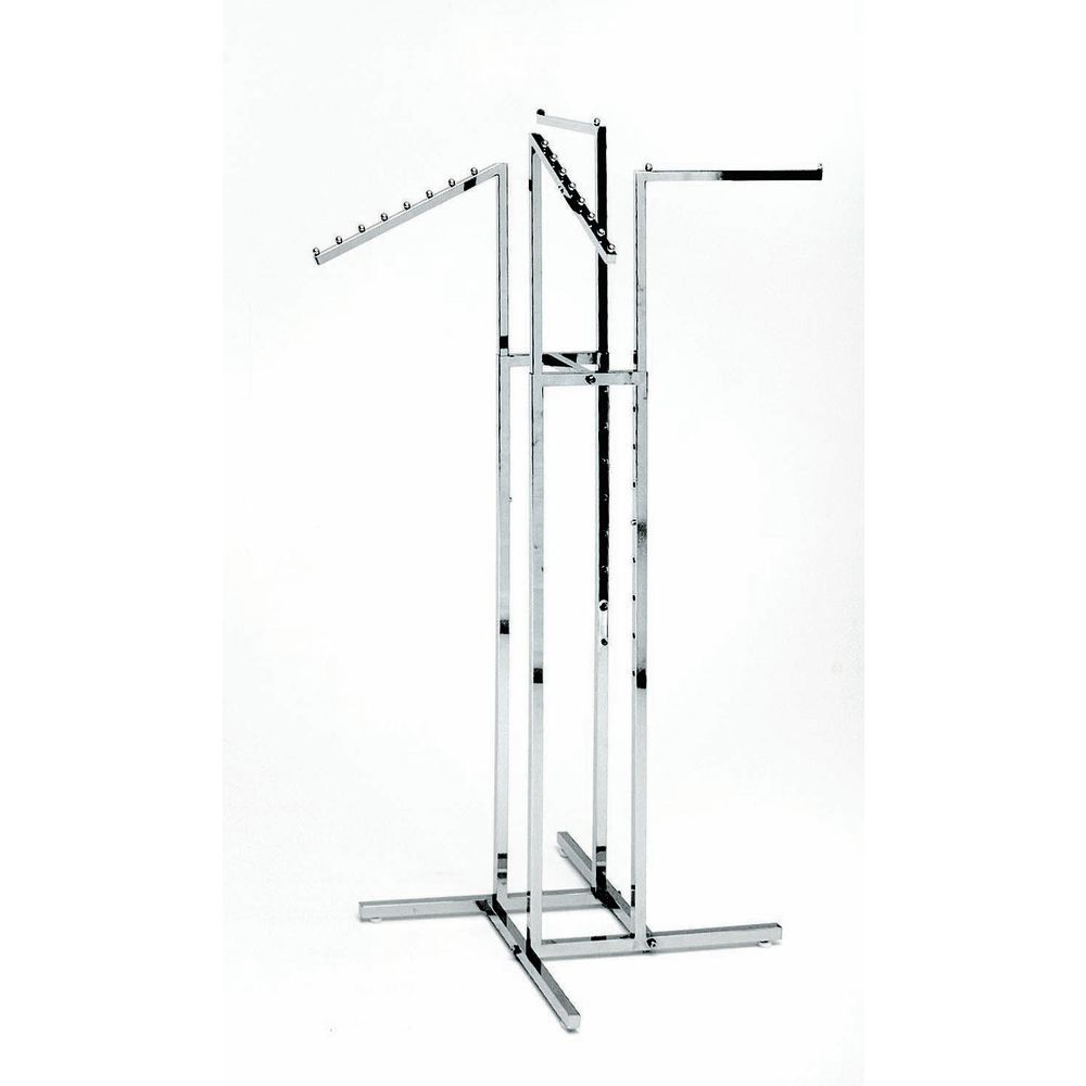 RACK, GARMENT, 2 ST + 2 SLT ARMS CHROME