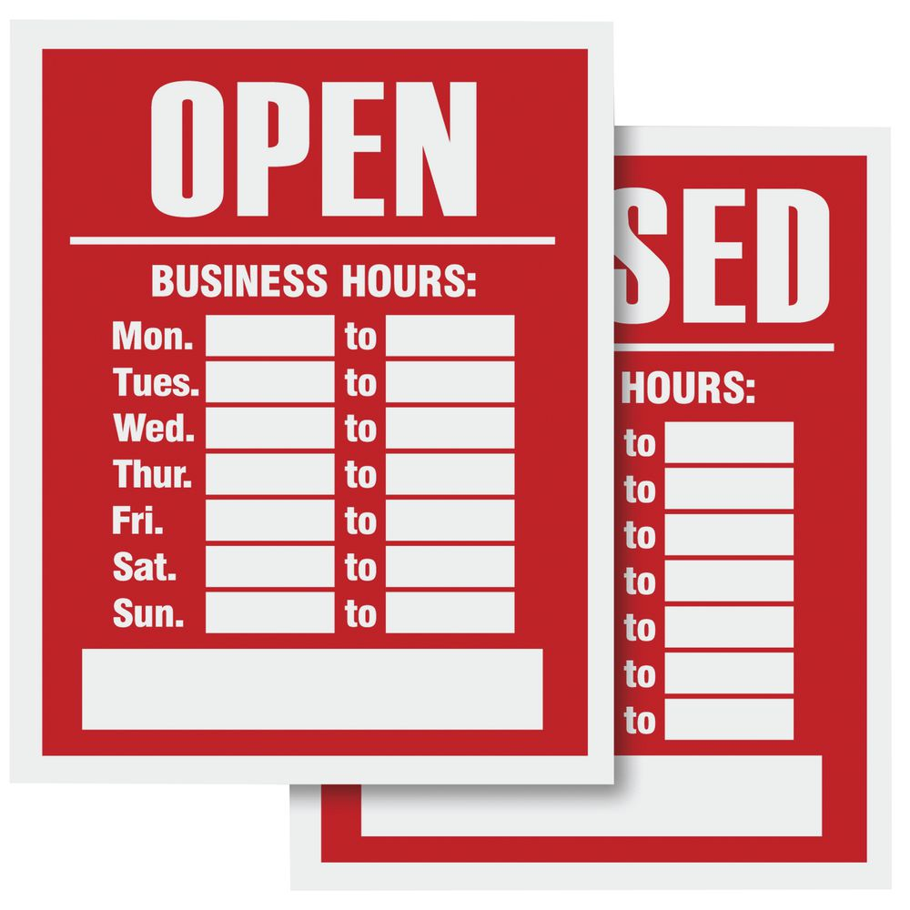 Open/Closed Business Hours Sign