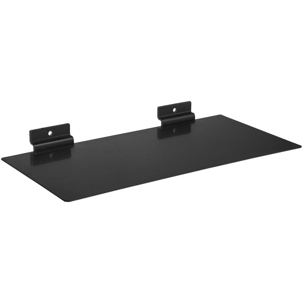Black Metal Slatwall Shelf