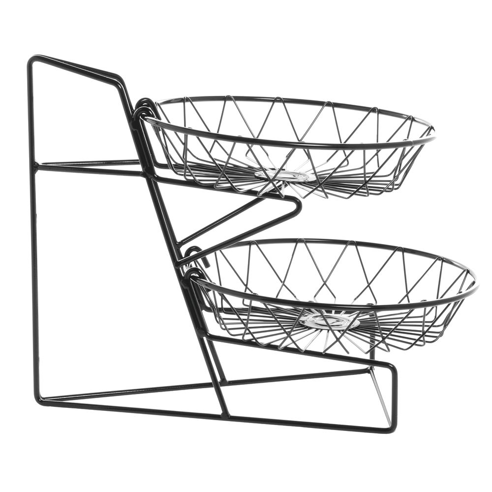 Cal-Mil Wire Basket Stand WithTwo 12 Round Baskets