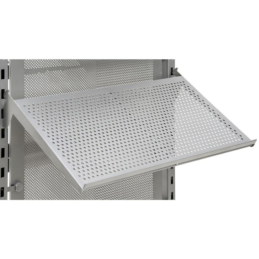 Adjustable Perforated Metal Burnside Shoe Shelf