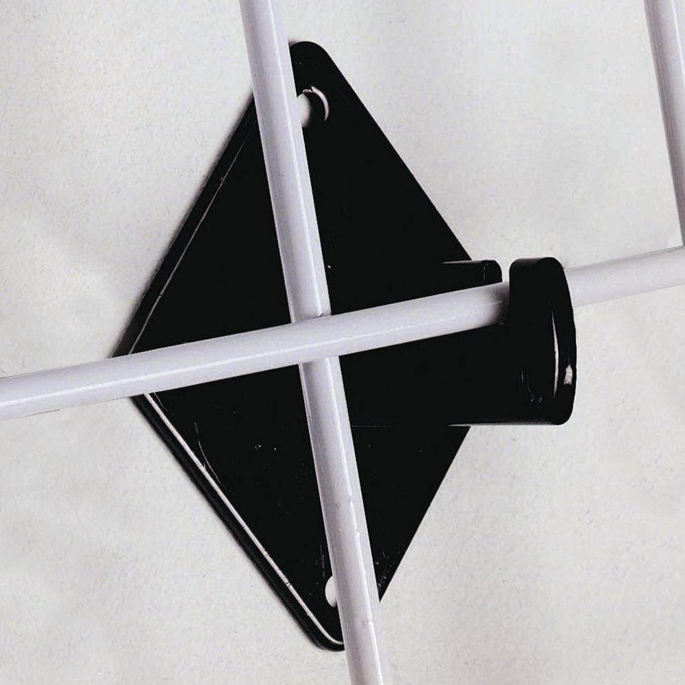 BRACKET, WALL / HOLD GRID PANEL, BLACK